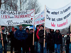 Braunkohle-Protest in Brandenburg, 6.01.2013