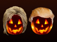 Hillary Clinton and Donald Trump at Halloween - Grafik: Samy - Creative-Commons-Lizenz Nicht-Kommerziell 3.0