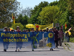 Demo am AKW Philippsburg, 7.05.16 - Foto: Südwestdeutsche Anti-AKW-Initiativen