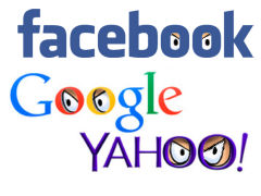 Facebook, Google, Yahoo transparency - Grafik: Samy