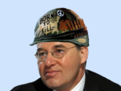 Gregor Gysi mit Helm - Collage: Samy