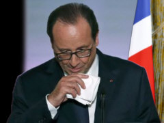 Hollande traurig - Collage: Samy - Creative-Commons-Lizenz Namensnennung Nicht-Kommerziell 3.0