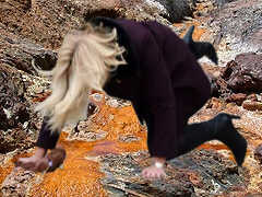 Helle Thorning-Schmidt goes fracking - Collage: Samy